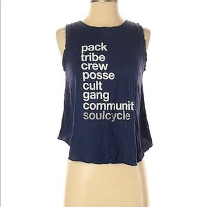 Soulcycle Navy Tribe Tank